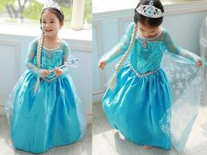 6aed660087 Strój księżniczki sukienka niebieska 100 -150