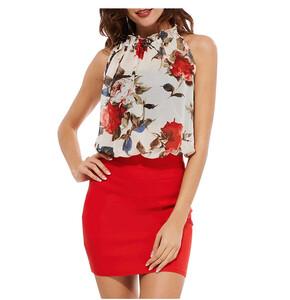 8b88c2b951 Sukienka ołówkowa sexy mini taliowana kwiaty