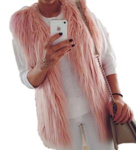 83c0a761a8a4b6 Kamizelka damska futrzana brązowa szara różowa