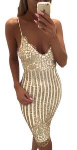 e3ff346f23a5 Sukienka mini obcisła imprezowa sylwestrowa złota błysk