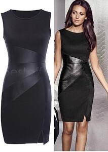 b612c4ac27 Sukienka skórzana lateksowa koktajlowa czarna s-xl