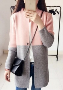 ffada4cebebc4f Kardigan damski długi sweter płaszcz elegancki