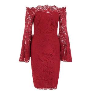 58afddef6 Sukienka koronkowa szerokie rękawy sexy modna S - XL