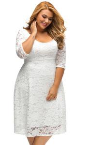 36e84ff5e Sukienka koronkowa rozkloszowana na wesele big plus size