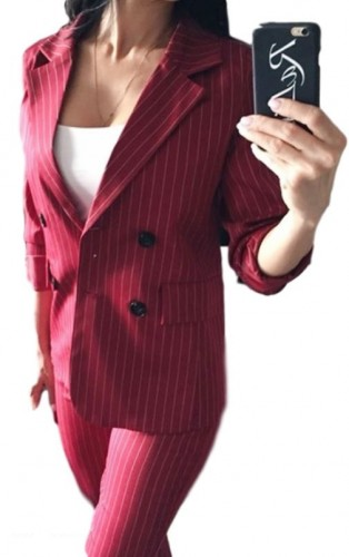 dc0426a43a67 Garnitur damski spódnica żakiet czerwony czarny MODITO