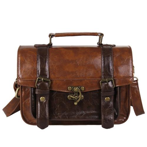 5a869a0d78bd7 Brązowa damska torebka kuferek do ręki na ramię MODITO