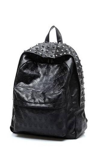 a258da623eb2c Plecak czarny dżety ćwieki modny skórzany MODITO