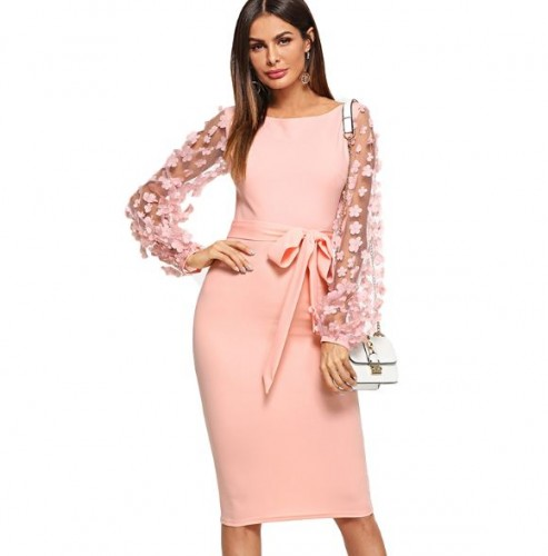 dfb0d6fc9689ac Sukienka wieczorowa damska prosta ozdobne rękawy XS - L. MODITO