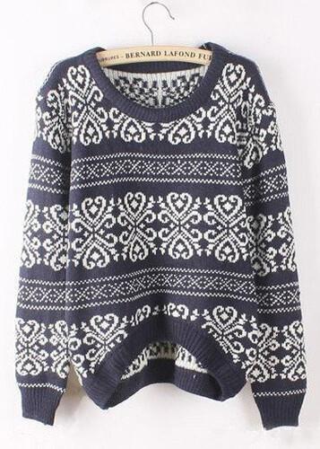 d35a2e787e3a91 Sweter damski sweterek wzór norweski beżowy MODITO