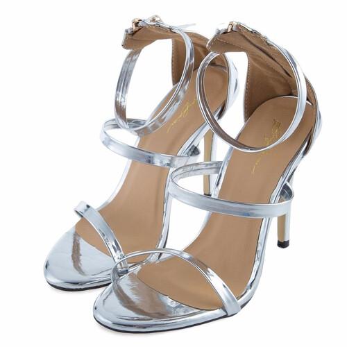 f6713f43 Szpilki sandały sandałki paski zamek srebrne złote MODITO