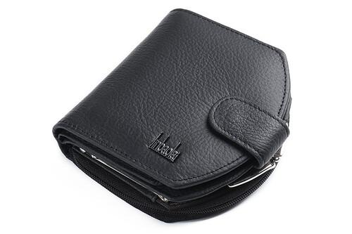 4a3702fd1cef4 Poręczny damski portfel skórzany czarny/czerwony MODITO