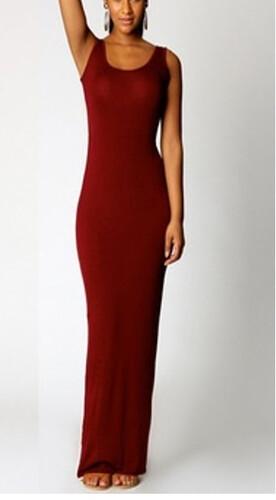 b55e9aabf8 Czerwona różowa maxi sukienka ołówkowa prosta MODITO