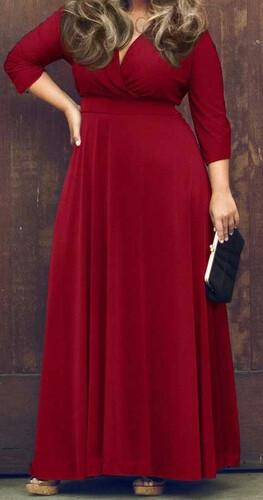 Sukienka długa maxi duże rozmiary klasyczna