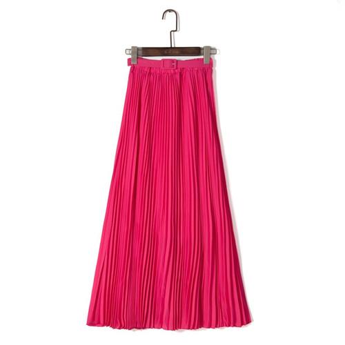 915f09cd Spódnica długa maxi plisowana modna z paskiem do pracy