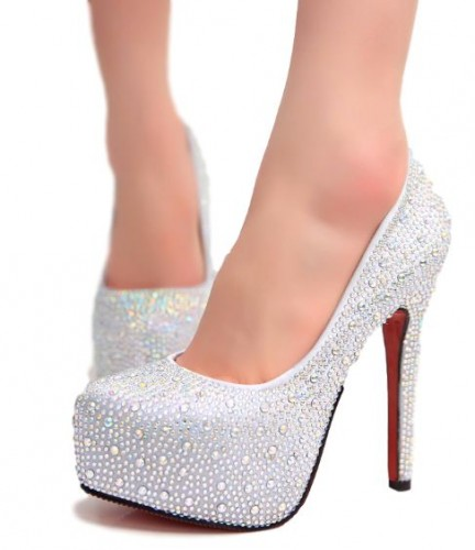 0113b73e3ef649 Eleganckie buty na wysokiej szpilce srebrne czerwone cyrkonie 34-42 ...