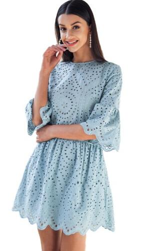 3b0f1efc20 Piękna sukienka na lato rozkloszowana ażurowa idealna na wesele S ...