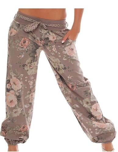 4c3d285b Spodnie damskie luźne orientalne w kwiaty do tańca jogi