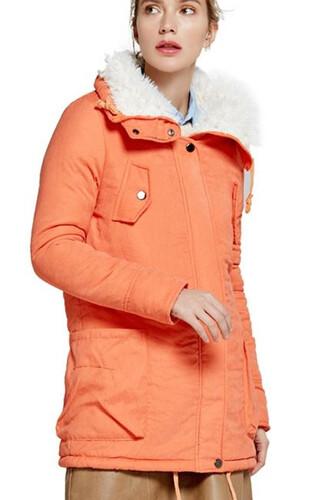 56ab4868 Płaszcz kurtka futerko parka kożuszek xs-l