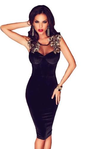 Sukienka Sznurowana Glamour Wesele Ołówkowa Sexy Modito