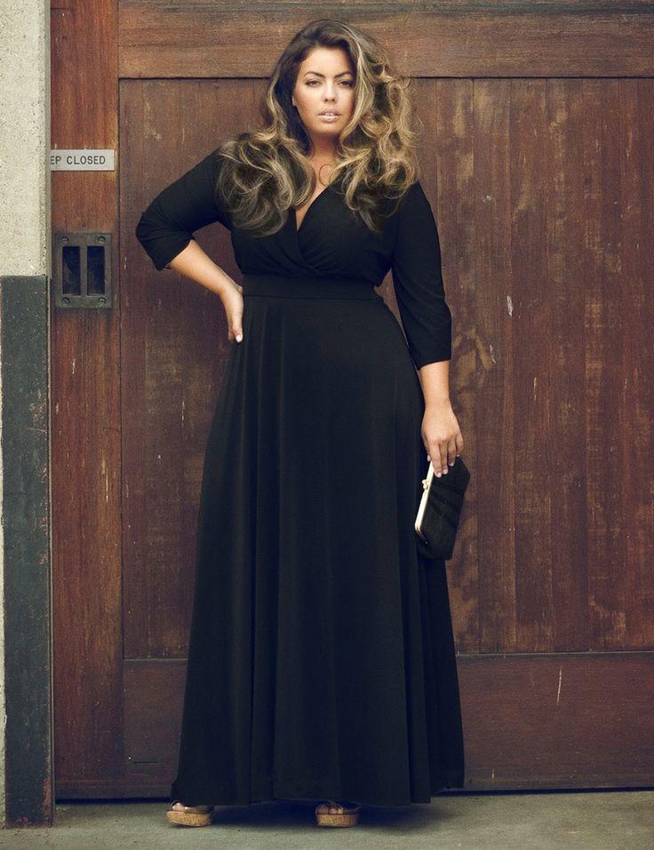 278eb1ea15 Sukienka długa maxi duże rozmiary klasyczna MODITO