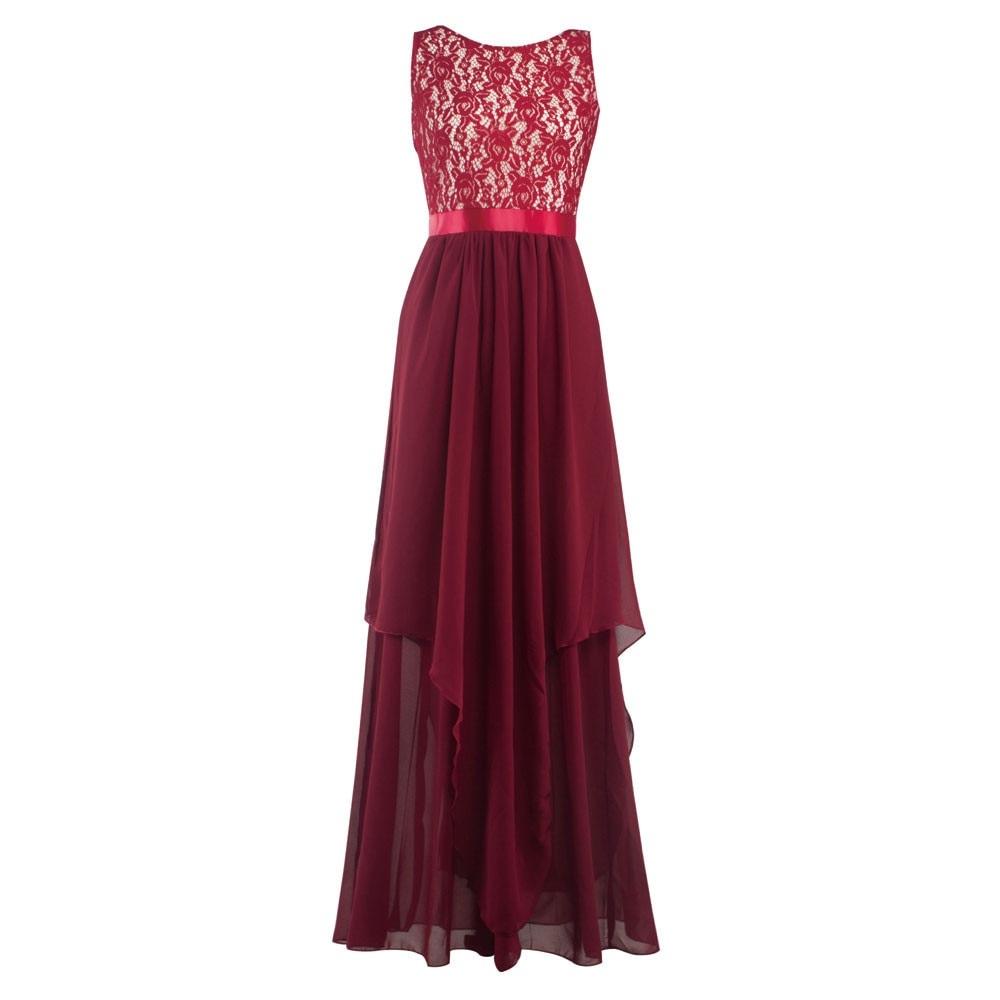 1f8cb0223e Suknia wieczorowa warstwowa z koronkowym dekoltem MODITO