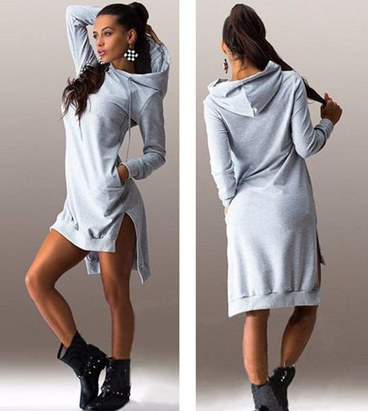 4472afbd32 Bardzo długa bluza sukienka skate girl kaptur s-xl MODITO