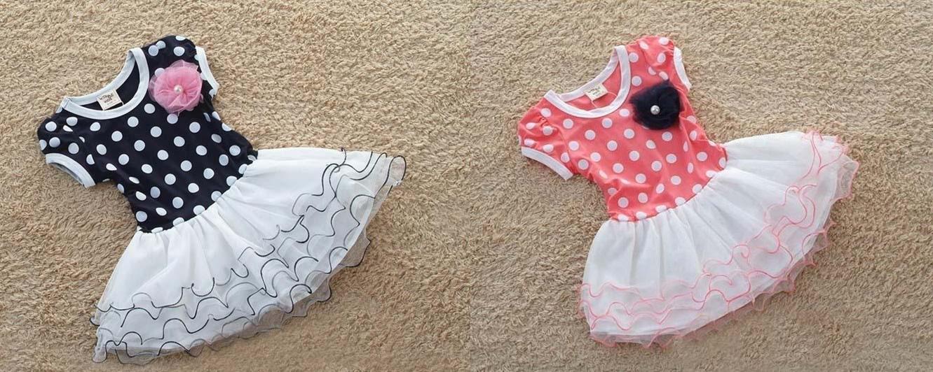 a2a2a1aeae Tiulowa sukienka w groszki dla dziewczynki 100 - 140 cm. EK513. EK513 ·  CZARNA · RÓŻOWA