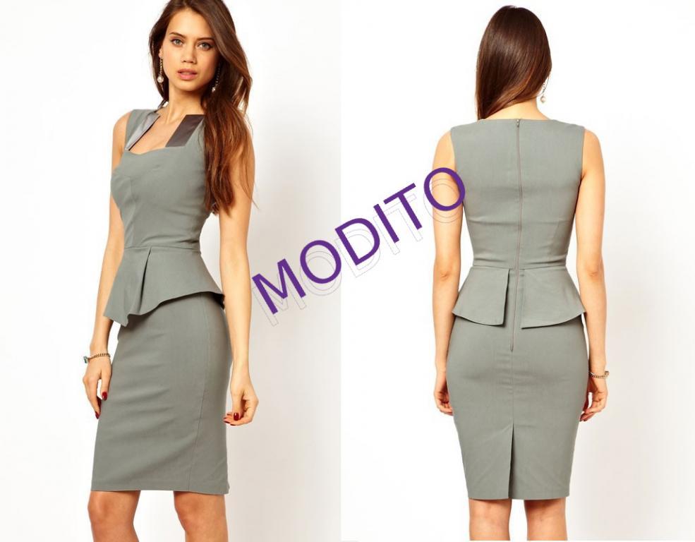 2181b1d928 Sukienka biurowa elegancka wyszczuplająca m - l MODITO