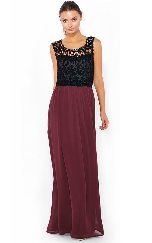 3c0b7790c6 Czarna bordowa suknia wieczorowa koronkowa. SUKNIA WIECZOROWA