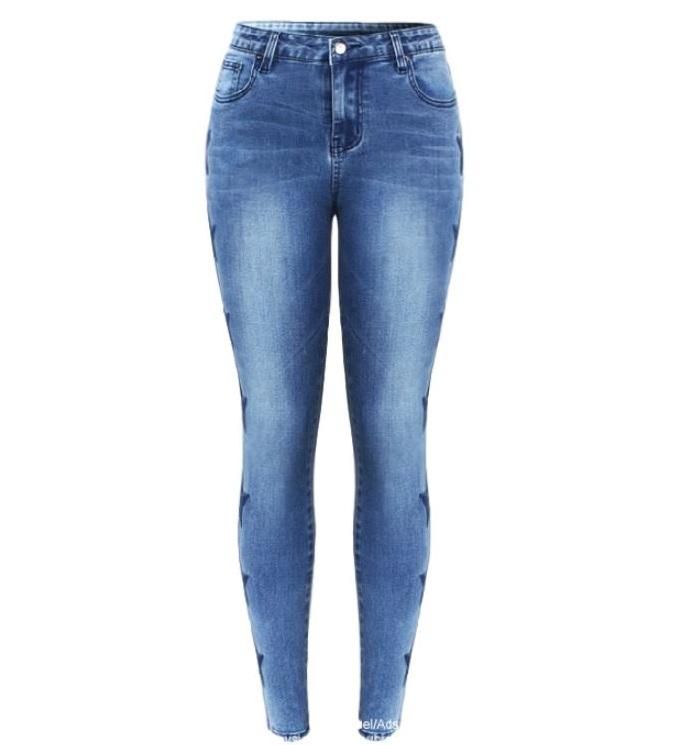 Modne spodnie jeans rurki elastyczne gwiazdki push up