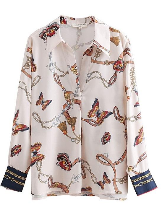 Koszula damska MOTYLKI motyle w Koszule damskie Allegro.pl