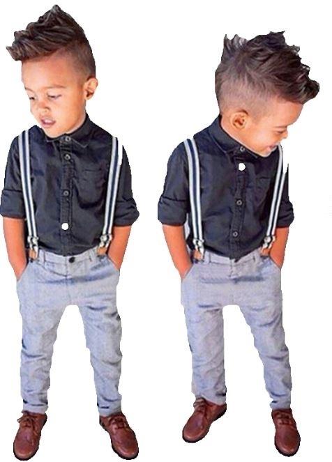 0d132083 Eleganckie spodnie z szelkami z koszulą dla chłopca