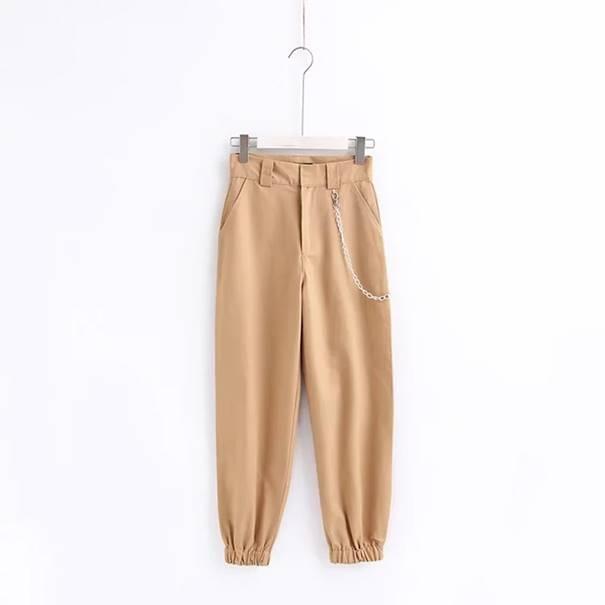 96d1f45ef8fcd0 Oryginalne spodnie damskie cargo bojówki ŁAŃCUCH S - L MODITO