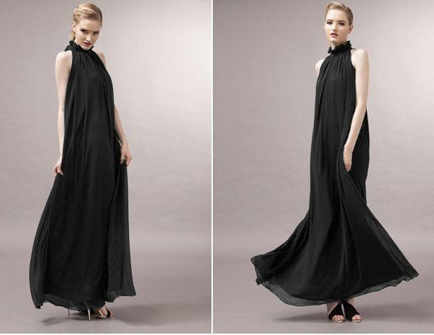 feeb8fa647 Suknia wieczorowa elegancka maxi klasyczna zwiewna. BORDOWY. BORDOWY   KORALOWY  KHAKI  CZARNY ...